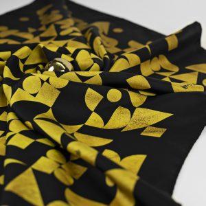 Maestoso Silk Scarf Bauhaus Gold