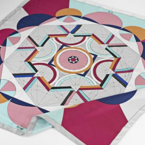 Maestoso Silk Scarf Golden Ratio Pink