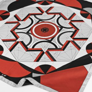 Maestoso Silk Scarf Golden Ratio Red