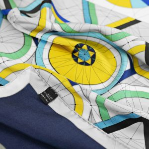 Maestoso Silk Scarf Golden Ratio Blue