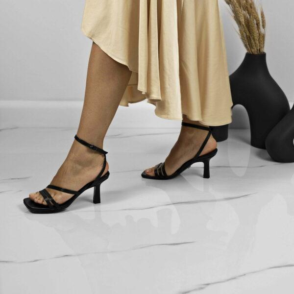 Maestoso Eero Black Leather Sandals