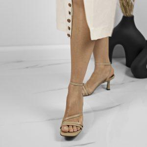 Maestoso Eero Nude Leather Sandals