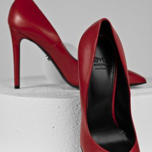 Maestoso Karl Red Leather Pumps
