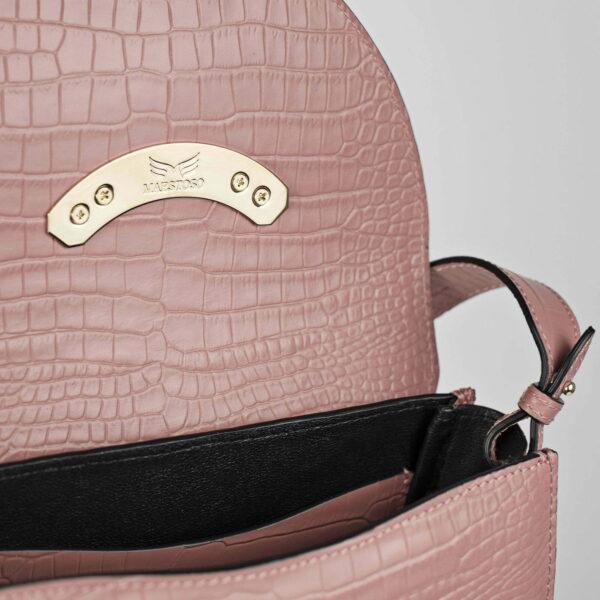 Maestoso Arc Dusty Pink Croco Bag