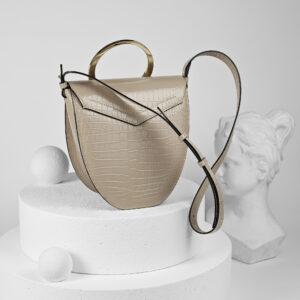 Maestoso Arc Nude Croco Bag