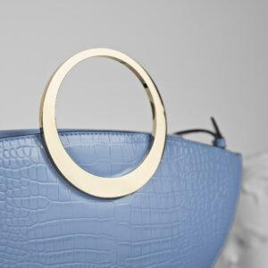 Maestoso Eclipse Blue Sky Croco Bag