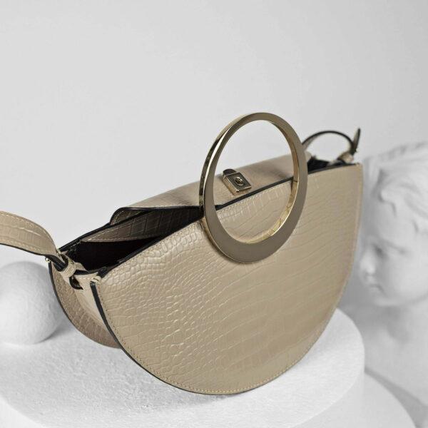 Maestoso Eclipse Nude Croco Bag