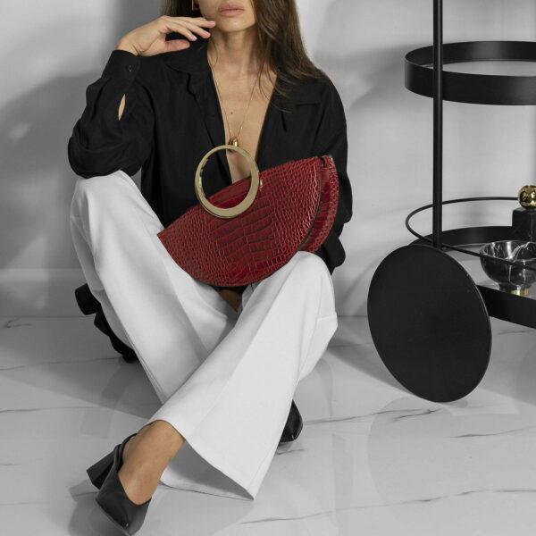 Maestoso Eclipse Red Croco Bag