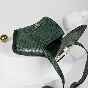 Maestoso Enso Mini Green Croco Bag